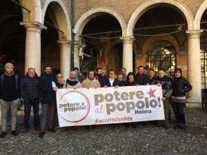 Modena accetta la sfida: ecco Potere al Popolo