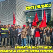 Sabato 16 dicembre 2017 cena di solidarietà con i lavoratori della Castelfrigo