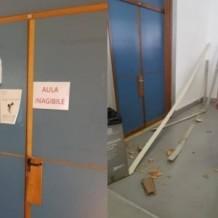 Crollo controsoffitto al dipartimento di fisica.